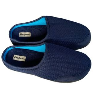 Dearfoams Men's Memory Foam Mesh Clog Slippers